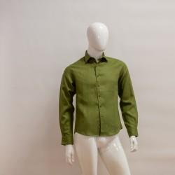 Camicia lino verde oliva