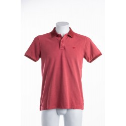 POLO STONE WASHED ROSSA